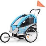 10. VidaXL Kinderfietskar en wandelwagen 2-in-1